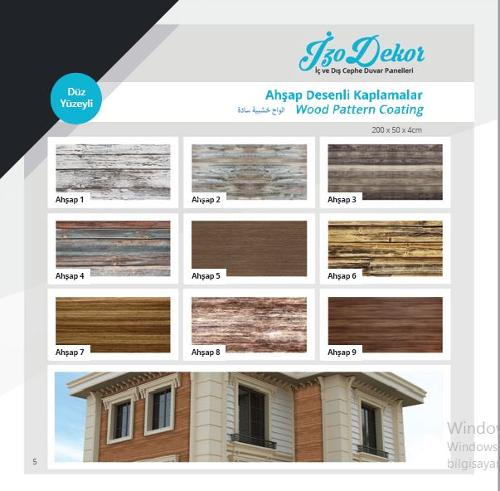 smooth surface wood patterned coating panels