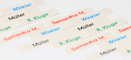printed name labels