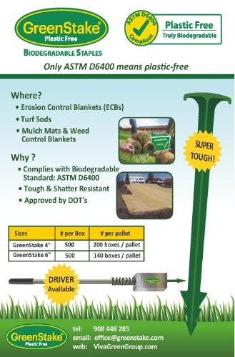 GreenStake Plastic-Free Biodegradable anchoring pin