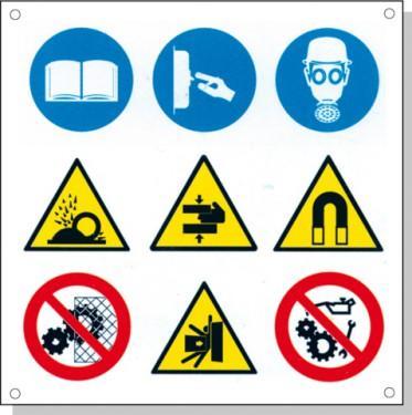 Cartelli pericolo rischi residui D