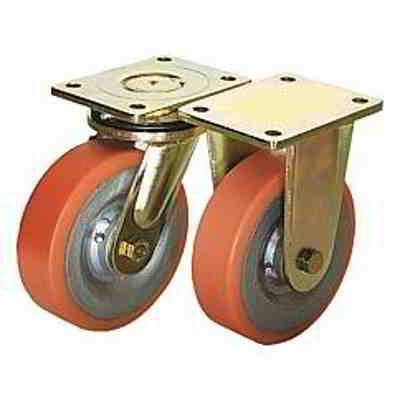 Roulette pivotante ou fixe mécano soudée modèle lourd