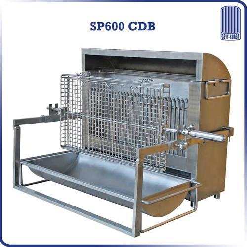 Barbecue à cuisson verticale Inox 600 mm