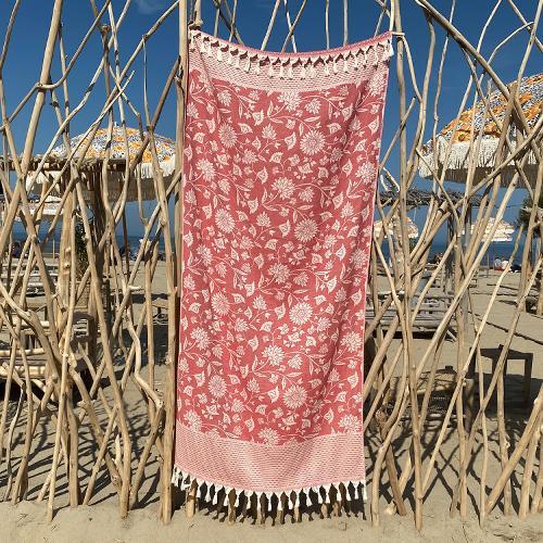 Hammam Towel Asia Samba Red