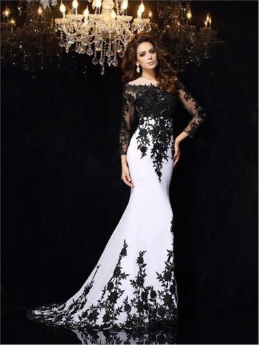 Lacy Fish Model Evening Dress