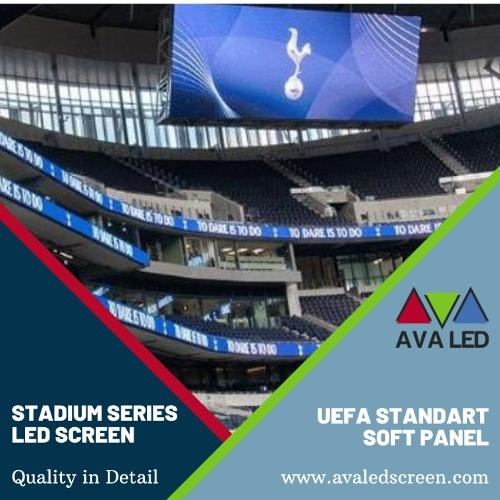 Telas de informação do placar do estádio
