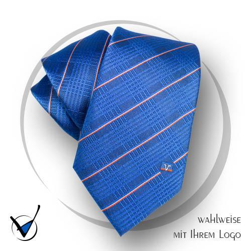 Krawatte Volksbank 8, Seide gewebt