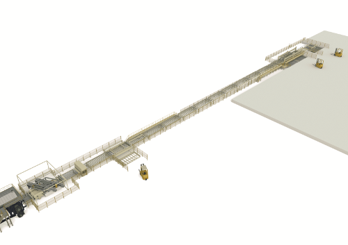 Cooling And Stacking Line For Thin-Board Production