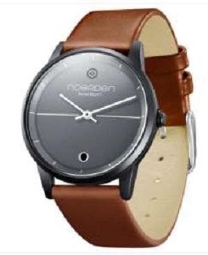 LIFE Hybrid Watch Brown Leather Band