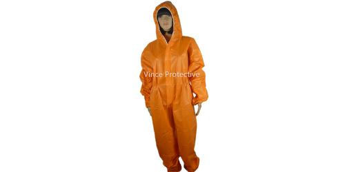 Orange Microporous Coverall