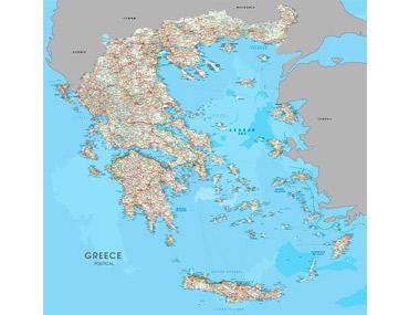 Χάρτες τοίχου Παγκόσμιοι και Ελληνικοί