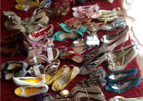 used shoes and clothes