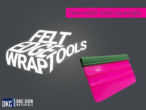 Birken felt edge wrap tools - Foil application tools