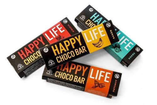 HAPPYLIFE CHOCO BARS – ORGANIC CRUNCHY CHOCOLATE BARS