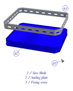 FOIL COVERED FOOD TRAY BLADES