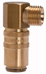 Tempered coupling DN 6, ET, Blocking valve, Brass, G 1/4 90