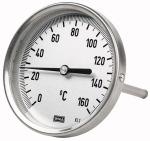 Bi-metallic thermometer rear G 1/2, Immersion shaft...