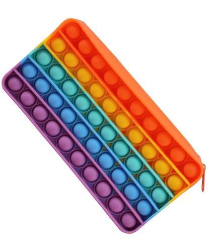 Silicone Penholder Push Pop Bubble Fidget Toy