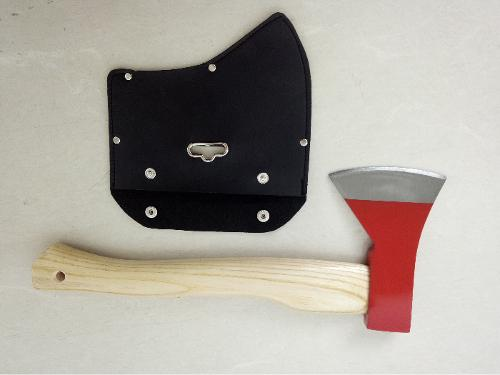 600g hatchet with leather protector