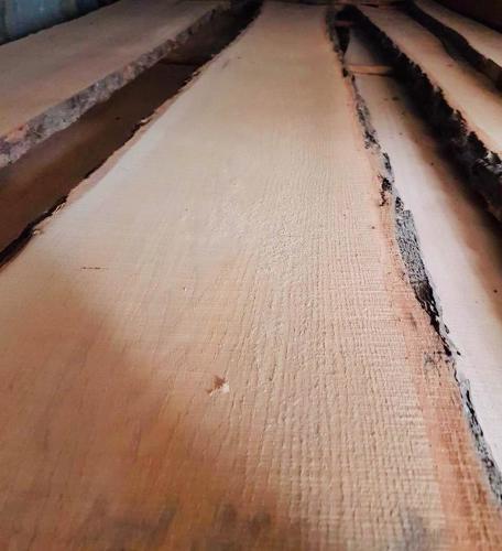 Доска дуба необрезная 50мм 3м АА/АВ сортов