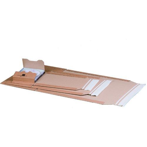 Universalverpackung Braun A4 mit Haftklebung