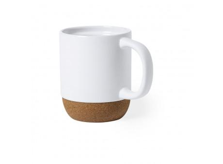 Taza con base de corcho natural