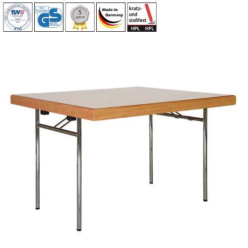 Folding table HUGO QUADRO with HPL table top