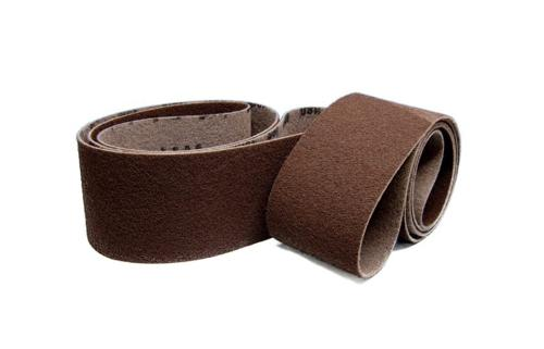 Abrasive fleece belts