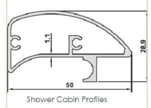 Aluminium Shower Cabin Profiles (Any Surface)