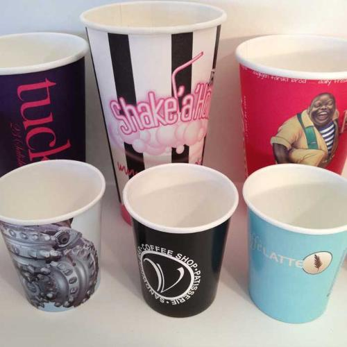 4, 8, 12, 16oz Single Wall Branded Paper Cups