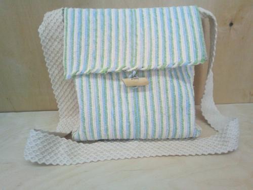 Handwoven stripe handbag!