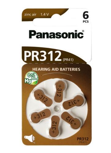 Batterie per apparecchi acustici PR312 – PR41