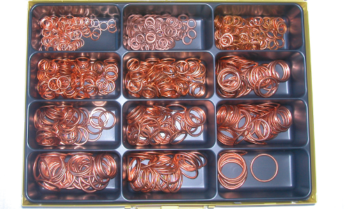 Assortment copper-non-asbestos gasket 8-