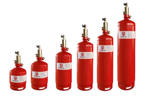 Gas fire extinguishing modules