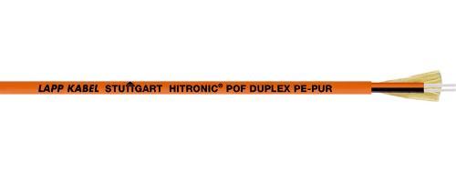 Polymer optical fibre as duplex fibre cable version