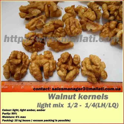 Walnut kernels Halves / Mix 1/2-1/4