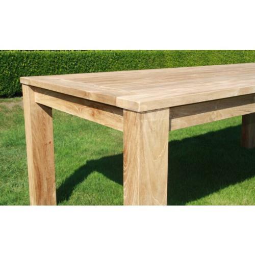 teak houten tuintafel rechthoekig