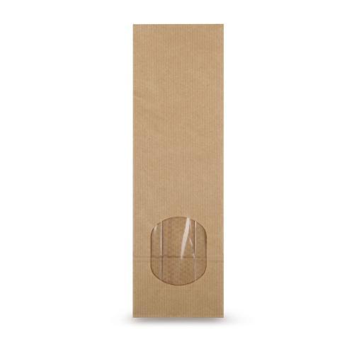 Block Bottom Bags Natron With Window