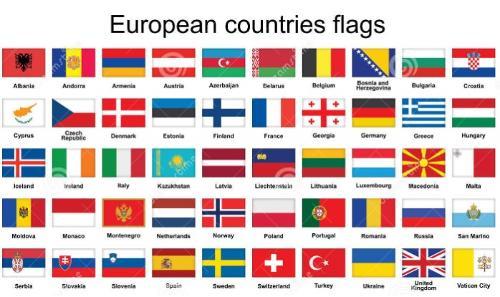 Bandiere Europa per abbigliamento ricamate