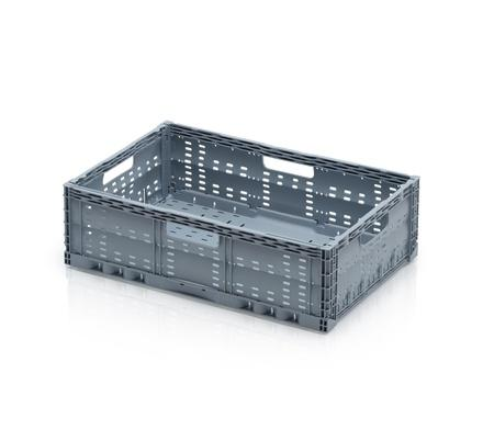Folding container perforated