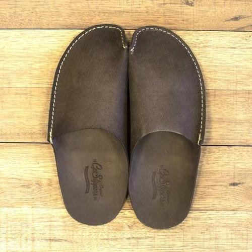cd8eb5cc67a6 ... leather slippers Brown CP Slippers