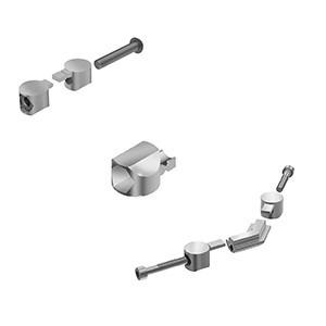 Universal Connector for aluminium profile mounting