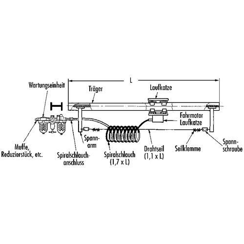 Air supply – Spiral hose