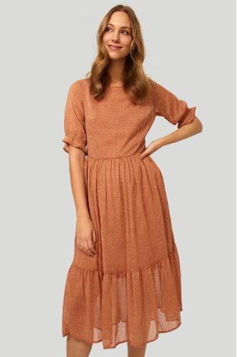 Elegancka sukienka z nadrukiem w kropki