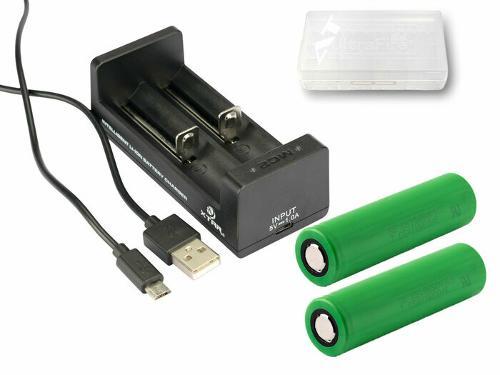 Xtar MC2 - Ladegerät mit 2x Murata / Sony 18650 VTC5...