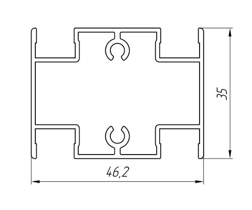 Aluminum Profile For Doors Ат-3027