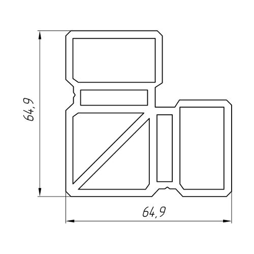Aluminum Profile For Inserts And Sliding Blocks Ат-5562