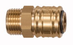 Quick-connect coupling I.D. 7.2, bright brass, G 1/2 ET