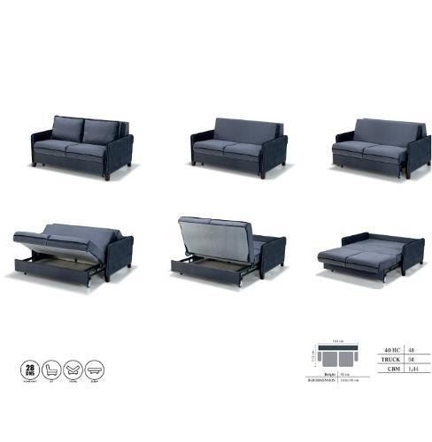 Šiaurietiško stiliaus svetainės audinio sofos derinys Plauna