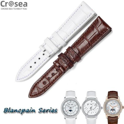 BLANCPAIN series Alligator Watch bands For Replacement