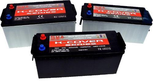 Batteria Veicolo Commerciale Pesante Mac A 125AH sinistra